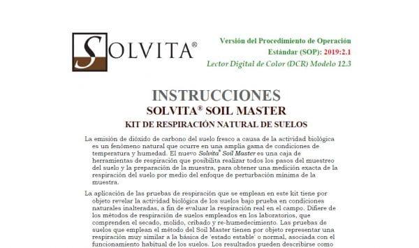 Solvita Soil Master Manual