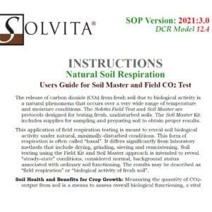 Solvita Natural Soil Respiration Test Manual